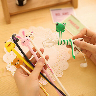 Convenient Design Animal Wrap Winder Headphone Earphone Cord Wire Cable Holder