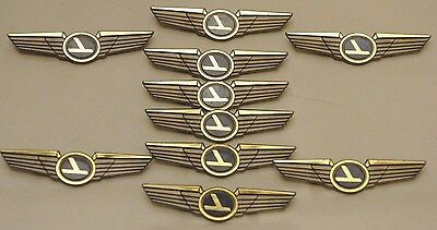 10 CHILDREN'S AVIATOR PILOT WINGS PLASTIC PINBACKS PARTY FAVORS Eastern Airlines