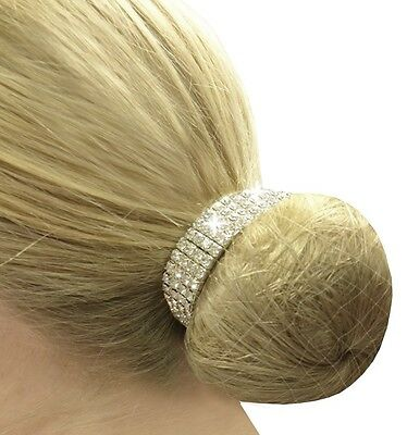 Equetech Diamante Crystal Bun Ring Scrunchie + Worldwide Shipping