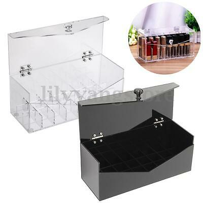 Acrylic Cosmetic Lipstick Holder Display Storage Makeup Beautify Organiser Box