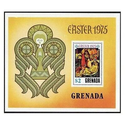 Grenada 643,MNH.Michel 676 Bl.44. Easter 1975.Painting by Botticelli.