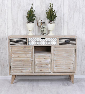 vitrinenschrank vintage schrank anrichte shabby chic eur 299 00 picclick de. Black Bedroom Furniture Sets. Home Design Ideas