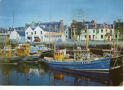 Vintage Postcard, The Inner Harbour, Stornoway, Isle of lewis, Posted 1973