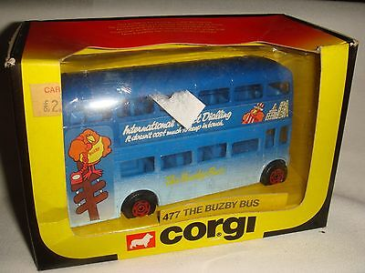 """CORGI - """" The BUZBY BUS """" Model Number 477  Boxed"""