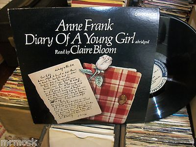 Anne Frank- Diary Of A Young Girl Vinyl Album Read By Claire Bloom