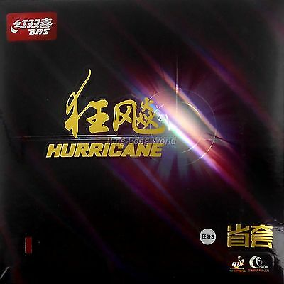 DHS Hurricane3 (Provincial) Pips-in Table Tennis Rubber With Orange Sponge
