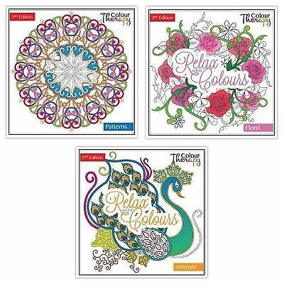 Adult Colouring Therapy Anti-Stress Art Colouring Book Relax 100 pages Animals