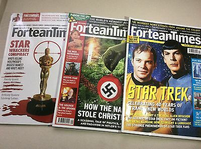 Fortean Times x 3,Star Trek Special,Satanism,Tesla,Occult.9/11 Conspiracy.