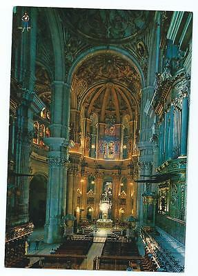 Colour Postcard of Inside of Malaga Cathedral, Spain