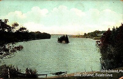 Orr's Island, ME Little Island, Beals Cove  postcard posted 1911