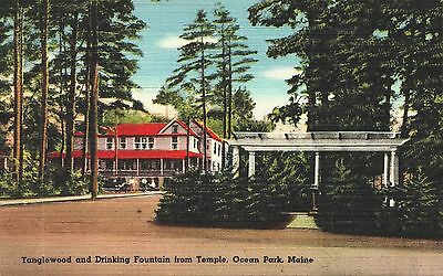 Ocean Park, ME Tanglewood and Drinking Fountain from Temple postcard unposted