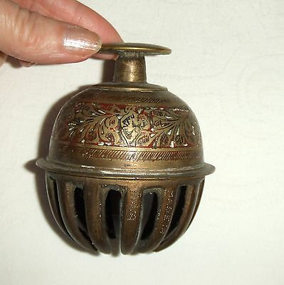 Vintage Decorative Brass Cow Bell / Animal Bell