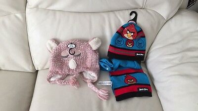 Boys Angry Birds Hat, Scarf And Gloves Set Size 1-3 Years Old