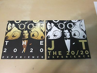(2) Justin Timberlake CD Booklets 20/20 Experience NO CD's Booklets Only