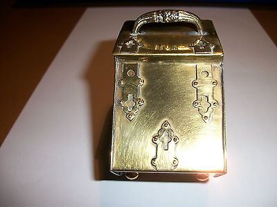 A Novelty Brass Inkwell In The Form Of A Coal Scuttle