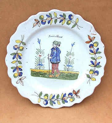 A DELFT DISH, 18th CENTURY, FRENCH, MARKED