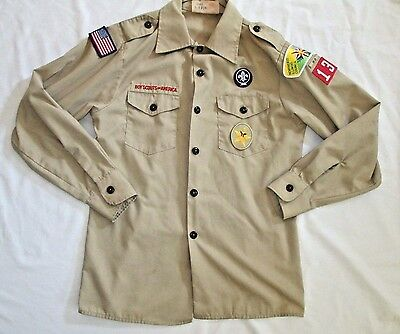 Official Boy Scouts Uniform Shirt Size Youth L 14 16 Long Sleeve