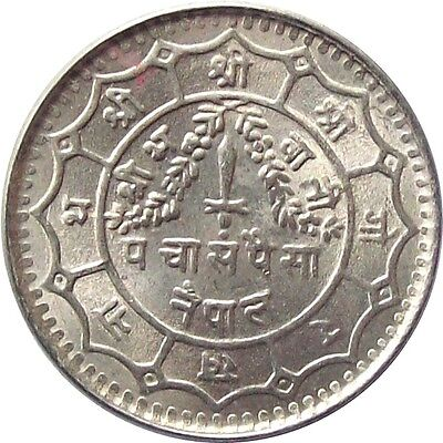 Mint Nepal 50-Paisa Copper-Nickel Coin 1969 King Mahendra Shah**km-780**unc