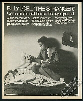 1977 Billy Joel photo The Stranger album release vintage print ad
