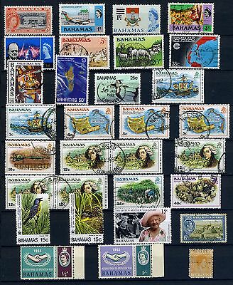 Bahamas Stamps from 1940's to 1990's good used & mint group