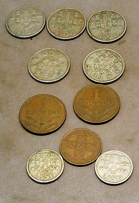 TEN COINS from PORTUGAL 1963 - 1971