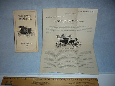 RARE 1908 the jewel stanhope sales broshure information booklet RARE