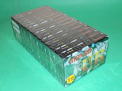 MAXELL UR Tape cassette x 15 Audio Cassettes Normal 15 Pack 90 Minutes Blank