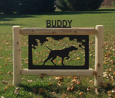 Pointers-Dogs-Hunting-Pets Clingermans Log Signs #dog15249