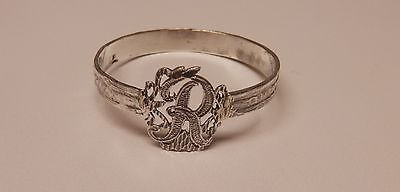 Napkin Ring with a ( Initial ( R ) Sterling Silver