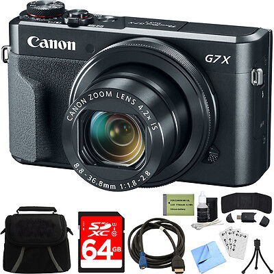 Canon PowerShot G7 X Mark II 20.1MP 4.2x Zoom Digital Camera w/ Deluxe Bundle