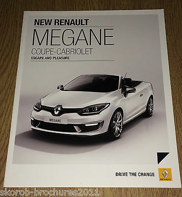 RENAULT - The Megane Coupe-Cabriolet Sales Brochure 2015.