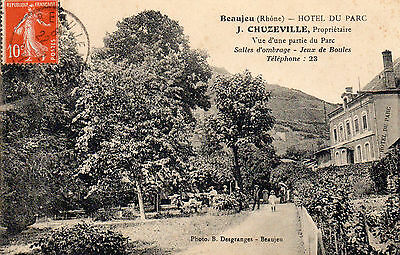 69.beaujeu.....cpa...hotel Du Parc.........lot 23