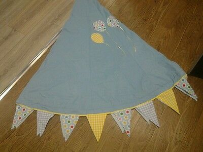 Ikea Mysig childrens bed play canopy, used, balloon design added.