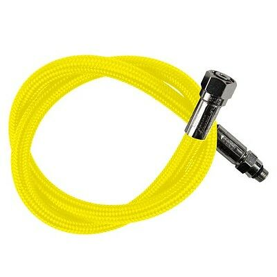 Aeris Max Flex Braided Scuba Diving Regulator and Octo MaxFlex Hose Yellow 36""