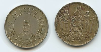 G6258 - British North Borneo 5 Cent 1903 H KM#5 RAR British Protectorate