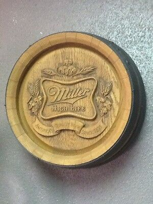 Vintage Miller High Life Modes Plastic Faux Wood Barrel Sign For The Wall