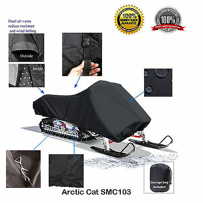 Arctic Cat XF 6000 7000 8000 9000 Deluxe Snowmobile Sled Cover Black