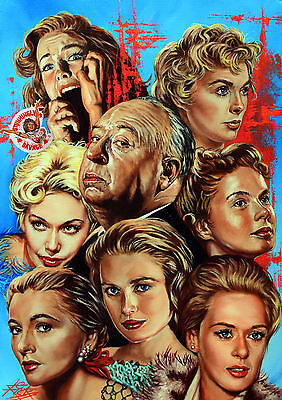 Alfred Hitchcock / Large Heavy Archival Giclee Fine Art Print / Rick Melton