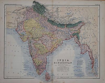 India Or Hindoostand By A. K. Johnston, Circa 1809.