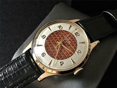 Wonderful vintage Smiths deluxe watch 17 jewels England yr 1956 serviced & timed