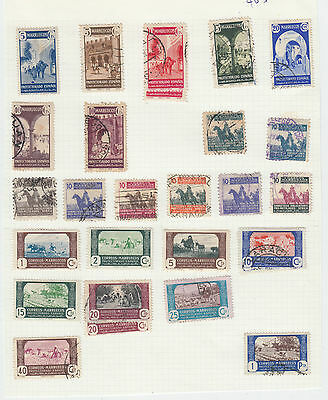 A very nice old mint & used Spanish Morocco 1940's album Page