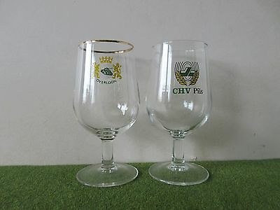 A Pair Of Dutch Beer Glasses In Excellent Condition