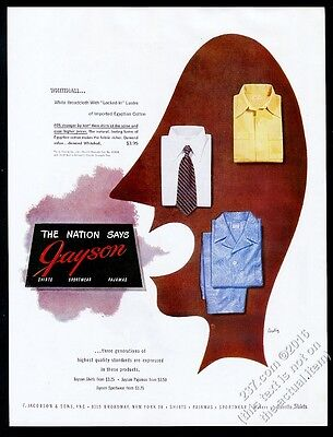 1947 Alvin Lustig art Jayson men's shirts vintage fashion print ad