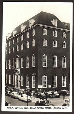 REAL PHOTO POSTCARD YMCA CENTRAL CLUB GREAT RUSSELL STREET CAMDEN LONDON c1955