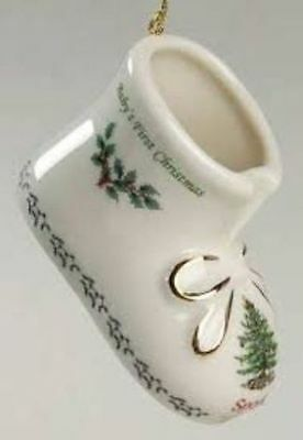 Spode Christmas Tree Babys First Christmas Booties Annual 2012 Ornament