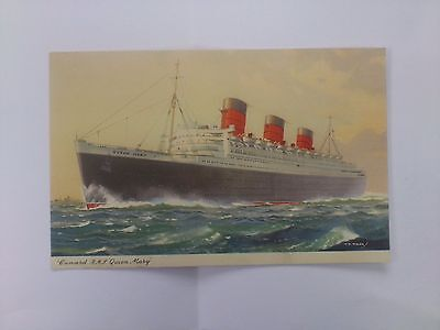 Postcard Sea Vessel Cruise Liner R.M.S Queen Mary Cunard Ship