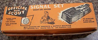 Official Vintage Boy Scout Signal Set With Instructions In Box