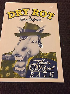 "Theatre Programme ""Dry Rot"" By John Chapman Theatre Royal Bath 1988"