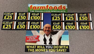 Farmfoods Coupons Vouchers 10% Discount. Worth £70. Expiry 10 Feb '17. Fast Post