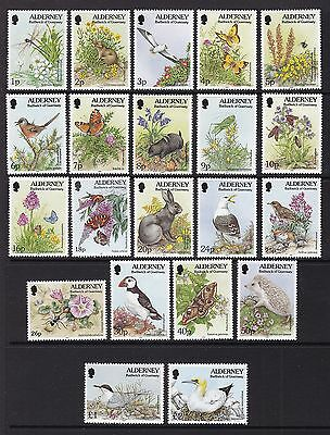Alderney 1994-98 Flora And Fauna Set, Unmounted Mint, Cat £12.50